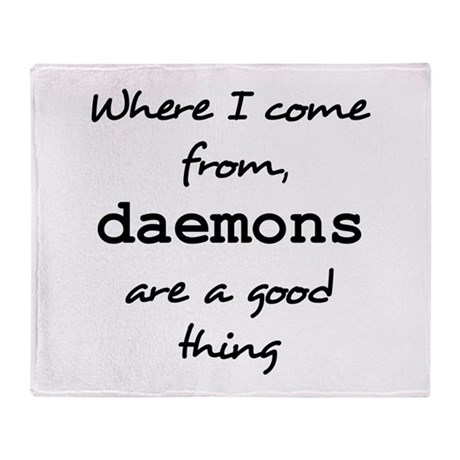Daemons Throw Blanket