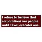Corporations People Bumper Sticker