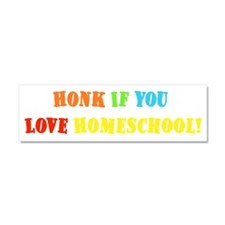 Honk If You Love Homeschool Car Magnet 10 x 3