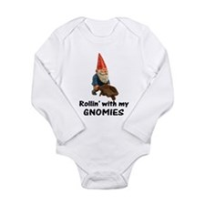 Rollin' With Gnomies Long Sleeve Infant Bodysuit