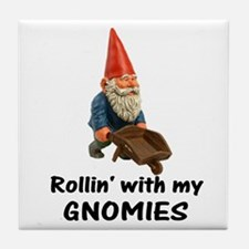 Rollin' With Gnomies Tile Coaster