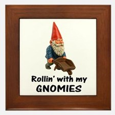 Rollin' With Gnomies Framed Tile