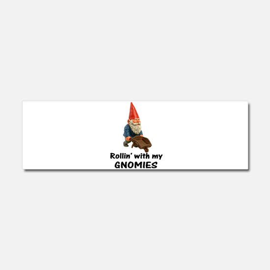 Rollin' With Gnomies Car Magnet 10 x 3