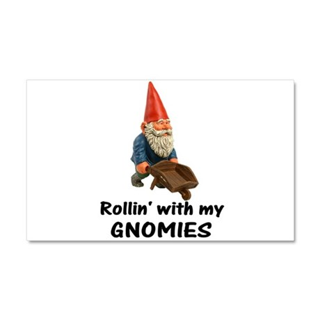 Rollin' With Gnomies Car Magnet 20 x 12