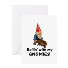 Rollin' With Gnomies Greeting Card