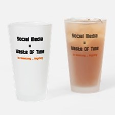 Cool Facebook is stupid Drinking Glass