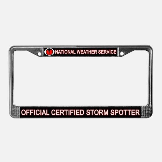 """SkyWARN """"Certified Spotter"""" License Plat"""