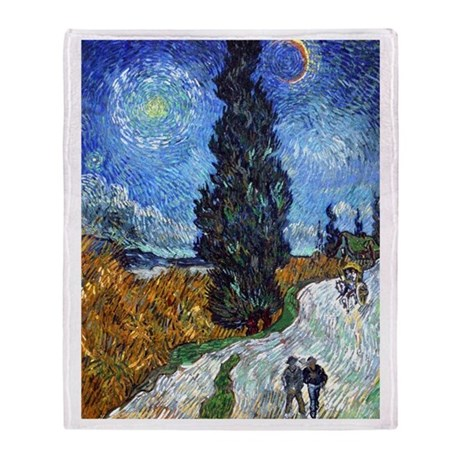 Van Gogh in Provence Throw Blanket