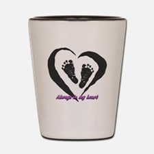 Cute Heart angel wings Shot Glass