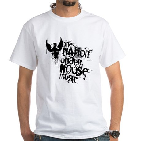 One Naation Under House Music White T-Shirt