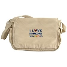 I love someone with Autism Messenger Bag