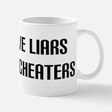 """Hate Cheaters"" Mug"