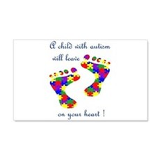 Footprints on your heart 22x14 Wall Peel