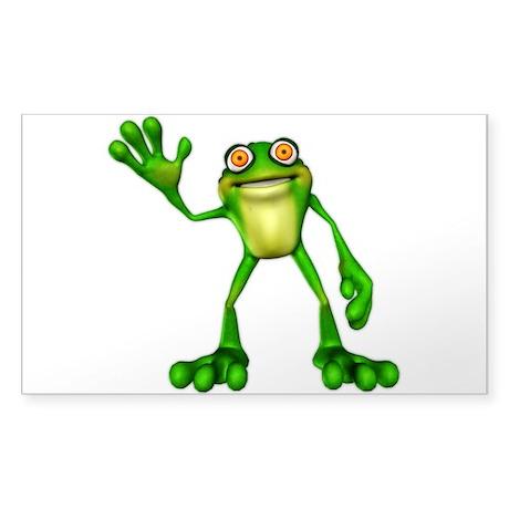Froggie Sticker (Rectangle)