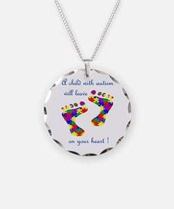 Cute Asd Necklace Circle Charm