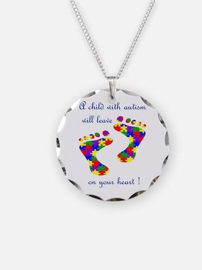 Cute Asd Necklace Circle Charm