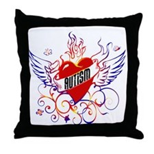 Autism Will Give You WIngs Throw Pillow