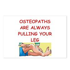 osteopath joke Postcards (Package of 8)