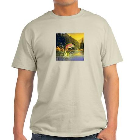 Rainbow Trout Jumping Light T-Shirt