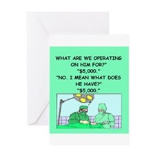 surgeon joke Greeting Card