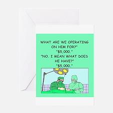 surgeon joke Greeting Card