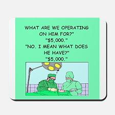 surgeon joke Mousepad