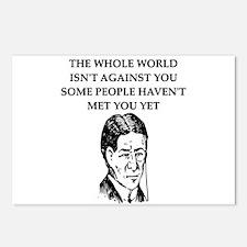 funny psychology joke Postcards (Package of 8)