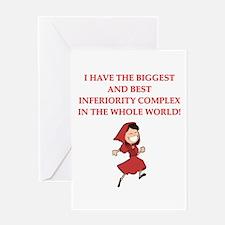 funny psychology joke Greeting Card