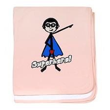 'Superhero!' baby blanket