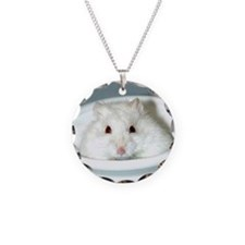 White-Albino Hamster Necklace