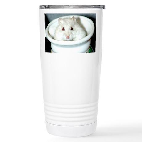 White-Albino Hamster Stainless Steel Travel Mug
