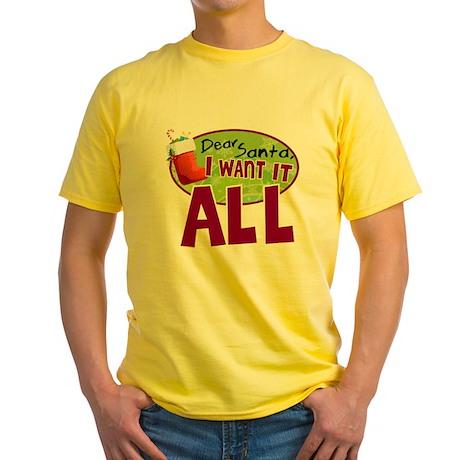 Dear Santa Yellow T-Shirt