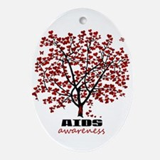 AIDS Awareness Ornament (Oval)