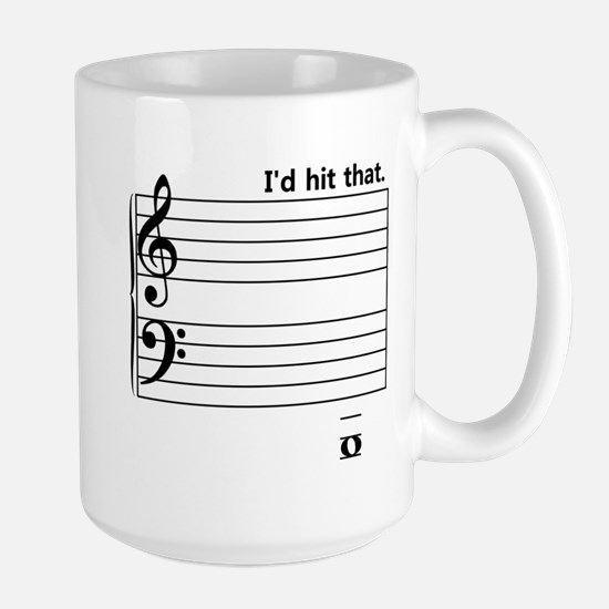 I'd Hit That (bass) Large Mug
