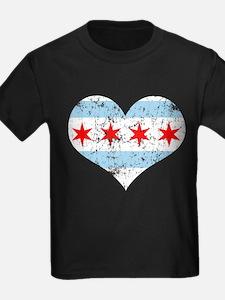 Chicago Flag Heart T