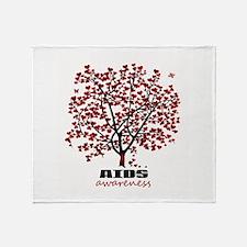 AIDS Awareness Throw Blanket