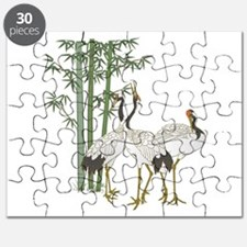 Crane & bamboo Puzzle