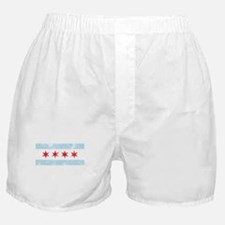 Chicago Flag Distressed Boxer Shorts