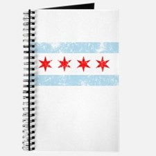 Chicago Flag Distressed Journal