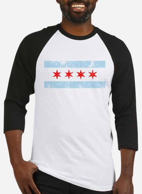 Chicago Flag Distressed Baseball Jersey