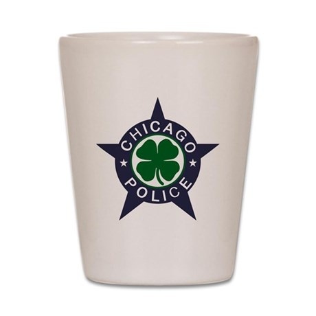 Chicago Police Irish Badge Shot Glass