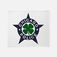 Chicago Police Irish Badge Throw Blanket