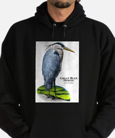 Great Blue Heron Hoodie (dark)