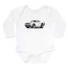 1969 Coronet White Car Long Sleeve Infant Bodysuit