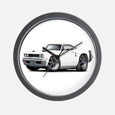 1969 Coronet White Car Wall Clock
