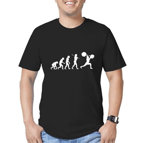 Evolved To Lift Men's Fitted T-Shirt (dark)