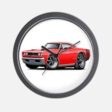 1969 Coronet Red Car Wall Clock