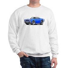 1969 Coronet Blue-White Car Sweatshirt