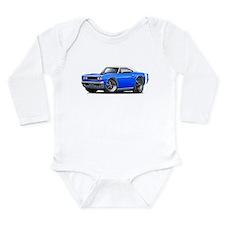 1969 Coronet Blue-White Car Long Sleeve Infant Bod