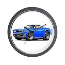 1969 Coronet Blue-White Car Wall Clock